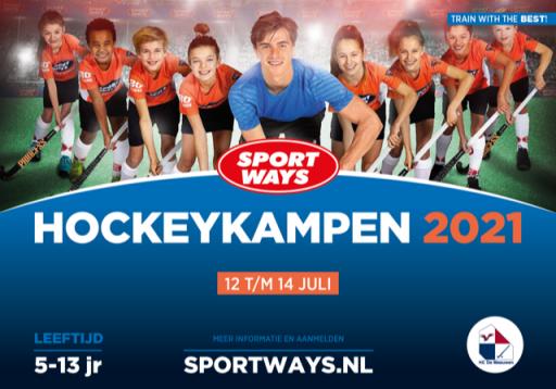 SportWays Hockeykamp in de zomervakantie 2021 op De Meeuwen